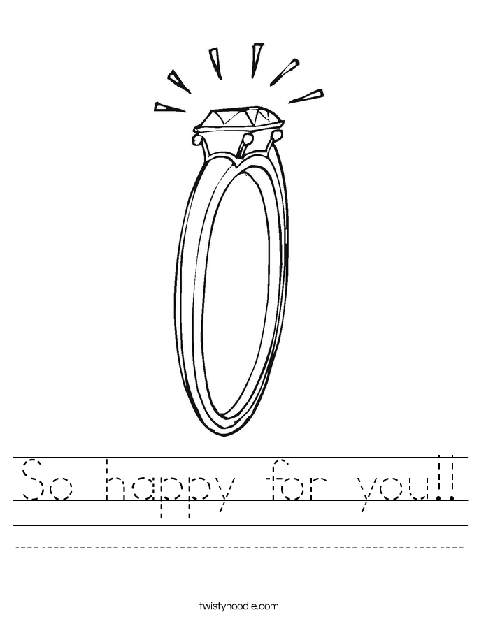 So happy for you!! Worksheet