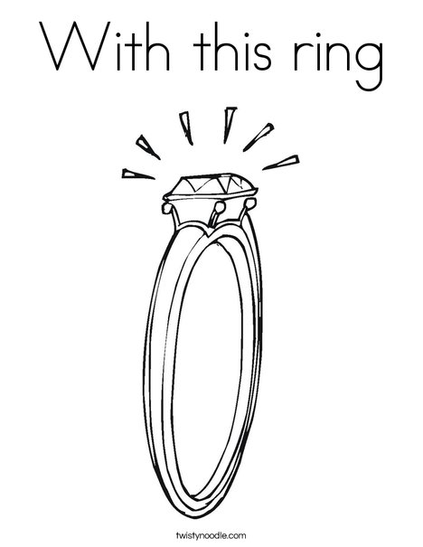 Diamond Engagement Ring Coloring Page