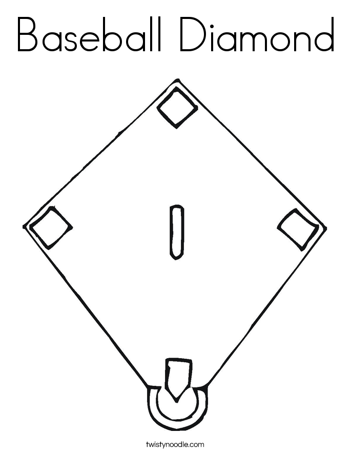 Baseball Diamond Coloring Page - Twisty Noodle