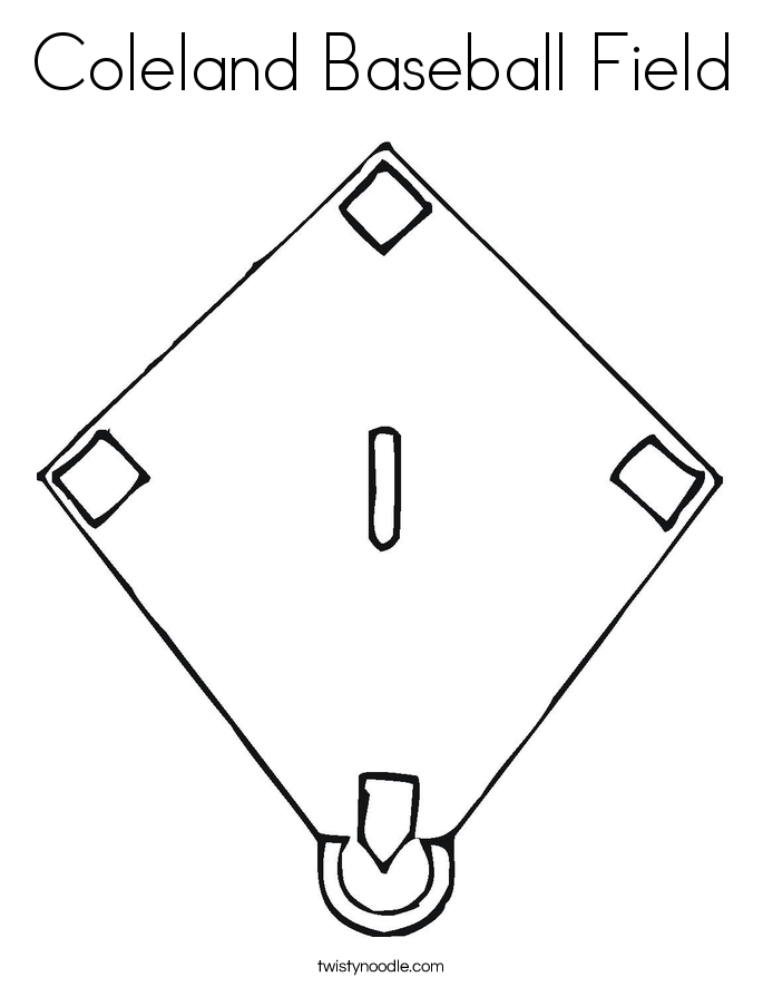 coloring book pages baseball field - photo#12