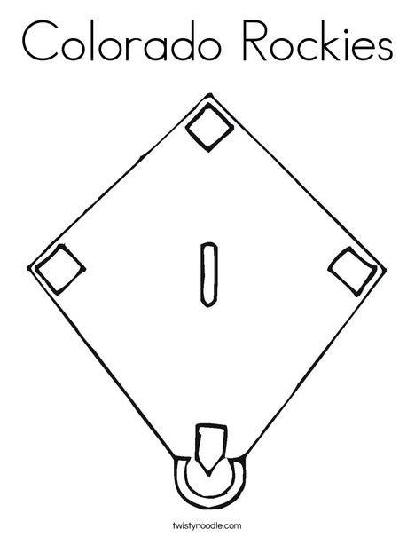 Baseball Diamond Coloring Page