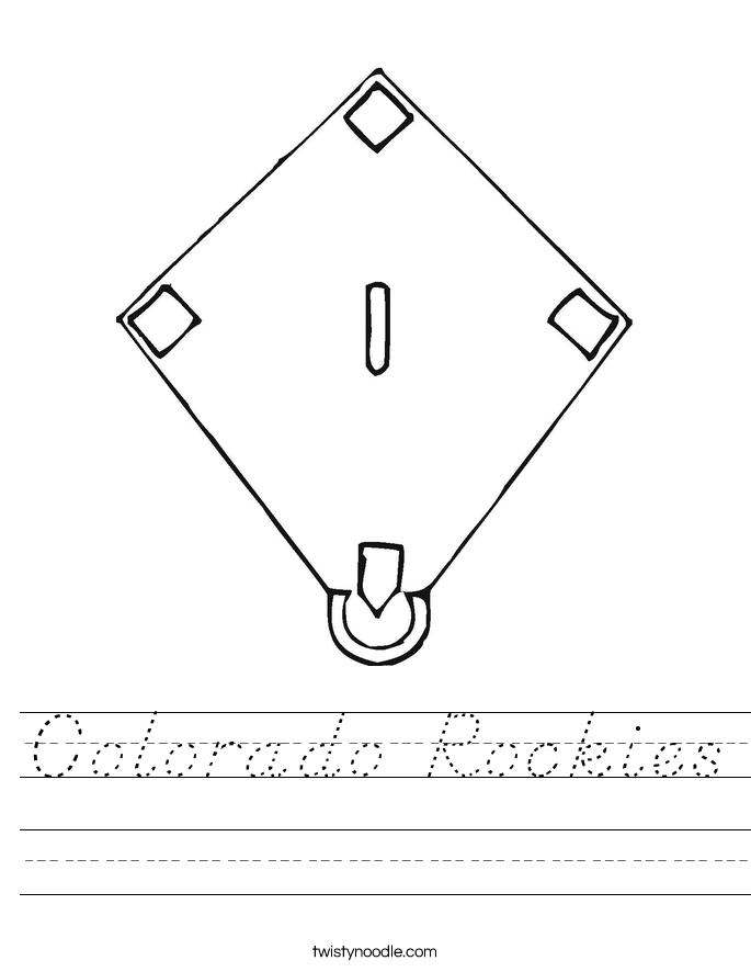 Colorado Rockies Worksheet