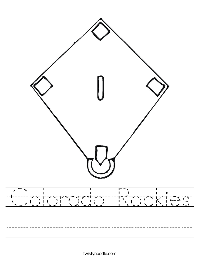 Colorado Rockies Worksheet