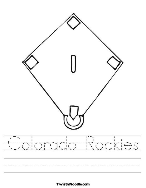 colorado rockies logo coloring pages - photo#25