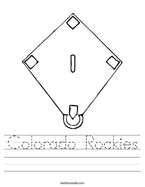 Baseball Diamond Worksheet