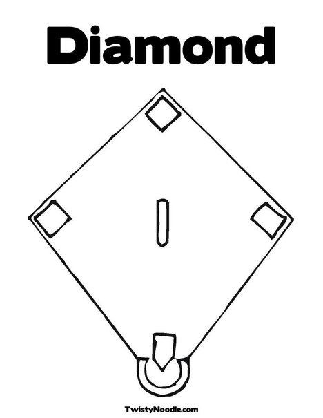 baseball diamond coloring pages - photo#5