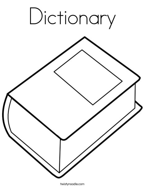 Dictionary Coloring Page