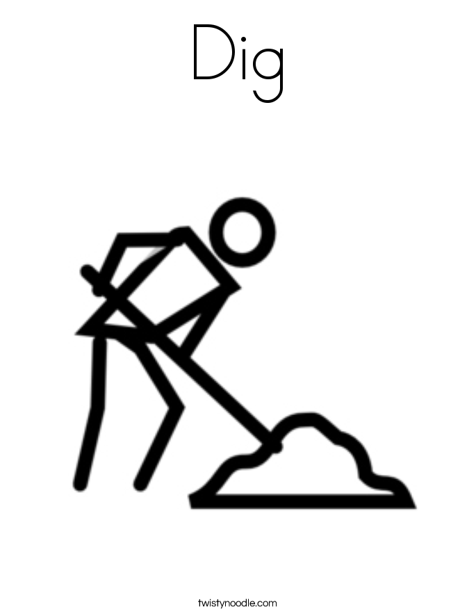 Dig 9 Coloring Page on Add Numbers And Color Picture