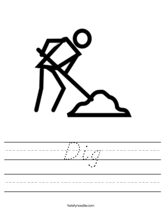 Dig Worksheet