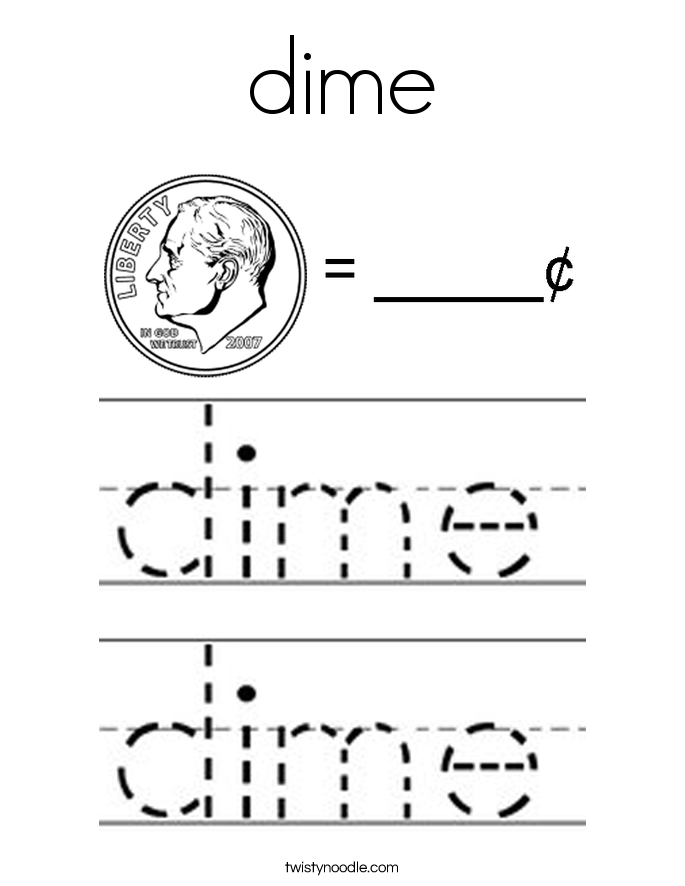 dime Coloring Page