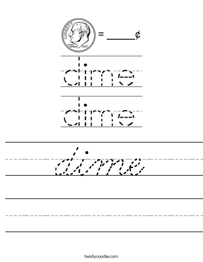 dime Worksheet