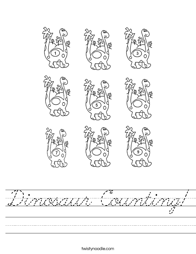 Dinosaur Counting! Worksheet