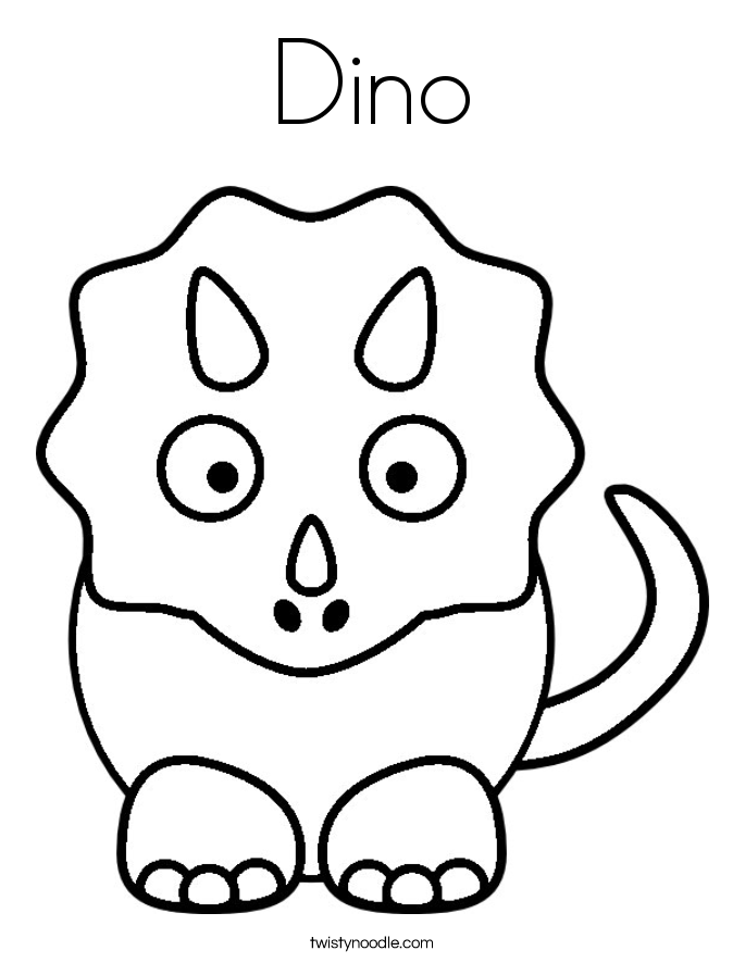 Dino Coloring Page - Twisty Noodle