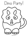 Dino Party! Coloring Page