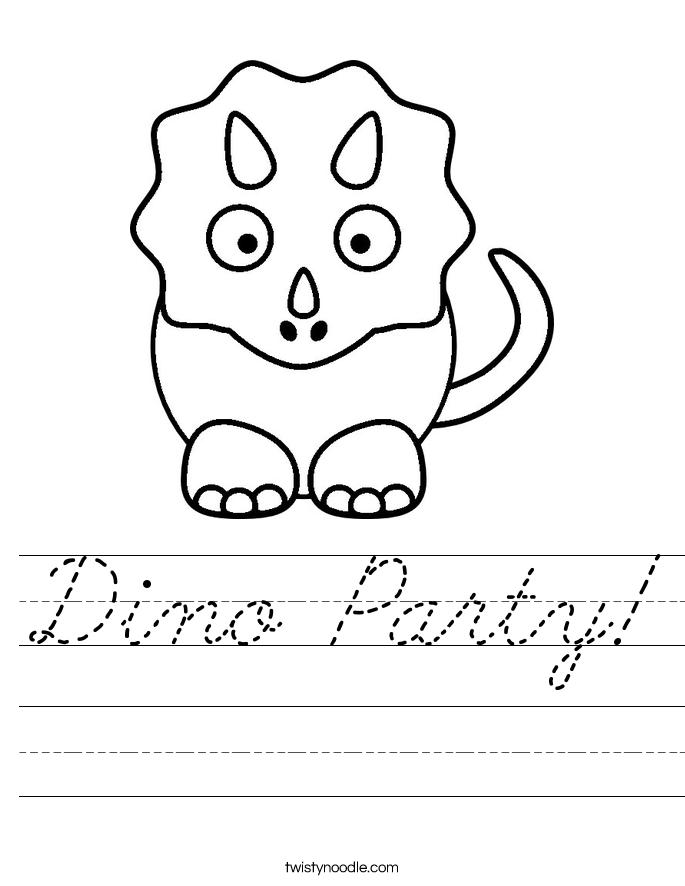 Dino Party! Worksheet