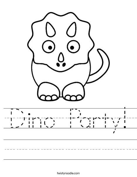 Dino Worksheet