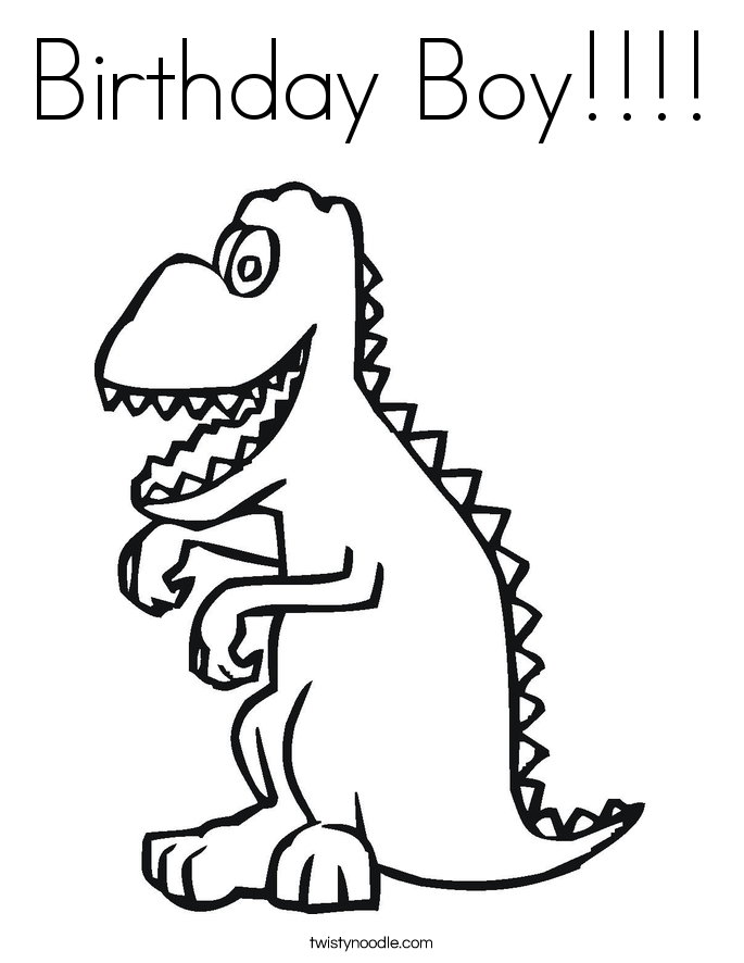 Birthday Boy Coloring Page - Twisty Noodle