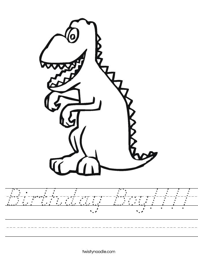 Birthday Boy!!!! Worksheet