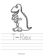 T-Rex Handwriting Sheet