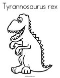 Tyrannosaurus rexColoring Page