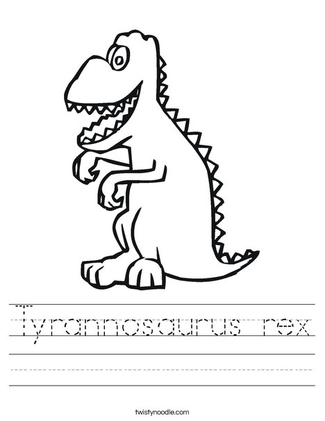 T-Rex Worksheet