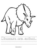 Dinosaurs are extinct Handwriting Sheet