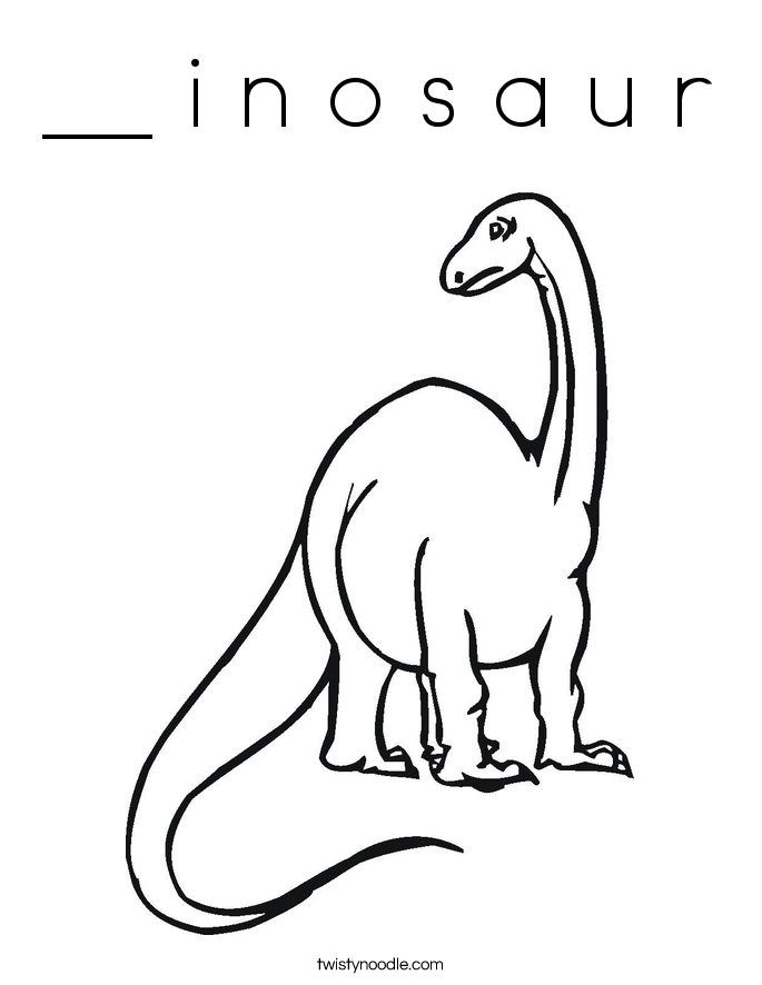 __ i n o s a u r Coloring Page