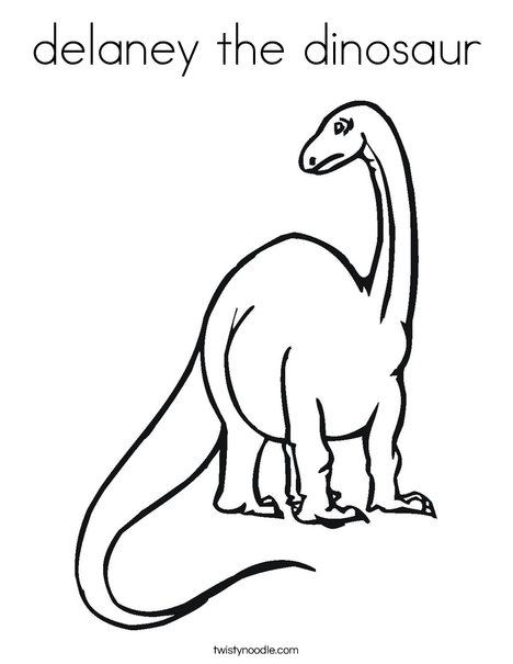 Tall Dinosaur Coloring Page