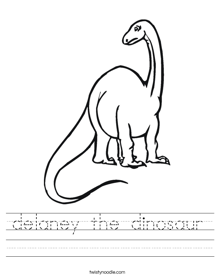 delaney the dinosaur Worksheet