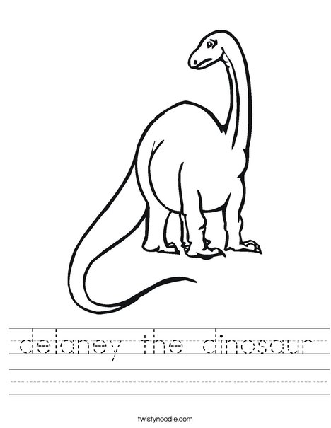 Tall Dinosaur Worksheet