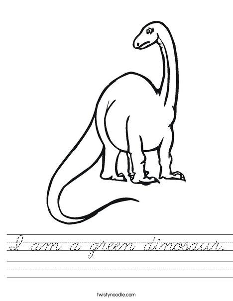 Tall Dinosaur Worksheet