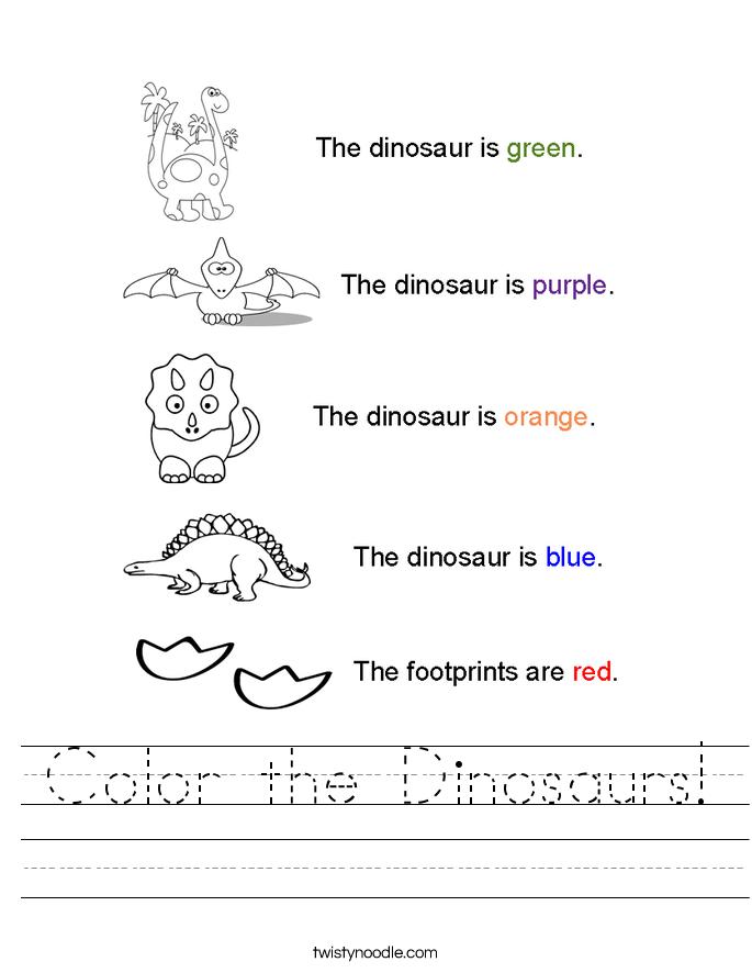 Dinosaur Worksheet – Dinosaur Worksheets for Kindergarten