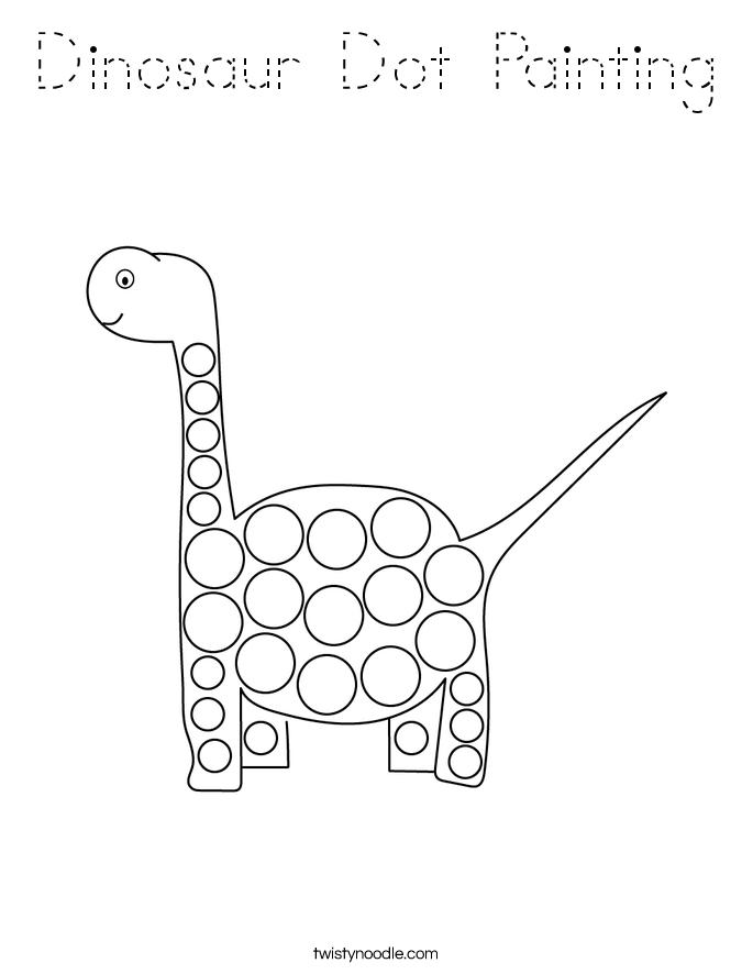 Dinosaur Dot Painting Coloring Page