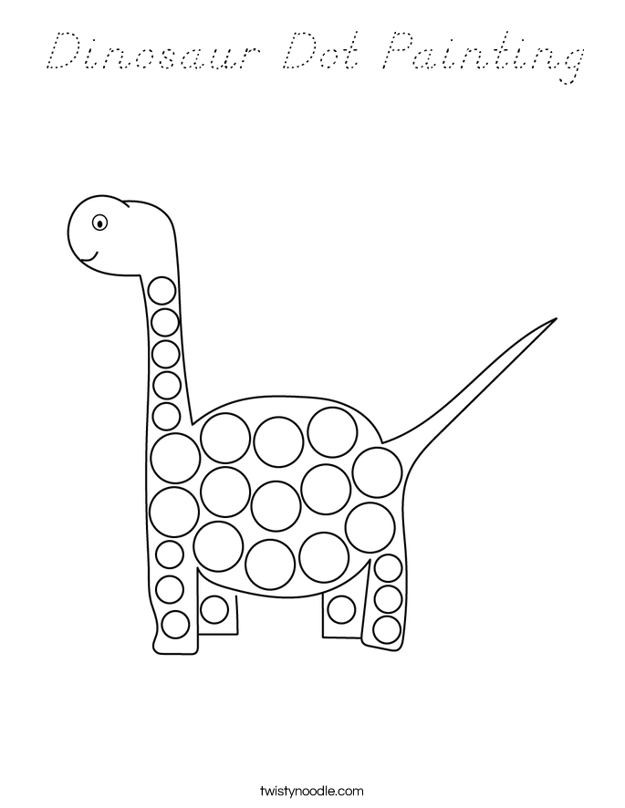 Dinosaur Dot Painting Coloring Page