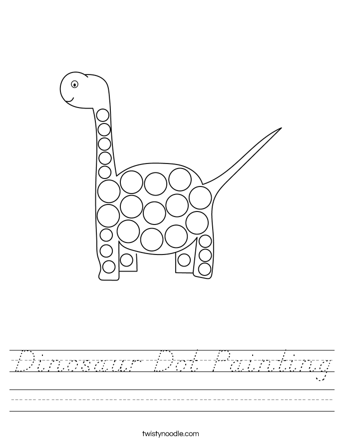 Dinosaur Dot Painting Worksheet