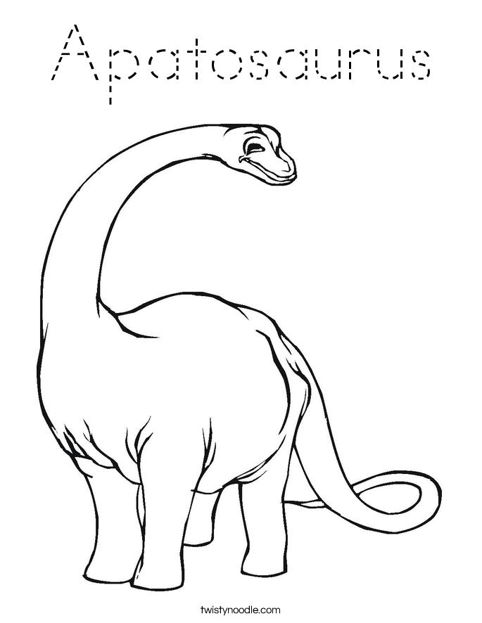Apatosaurus Coloring Page