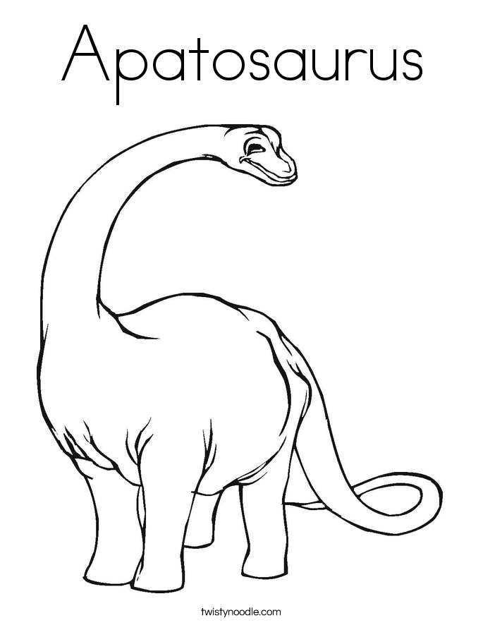 apatosaurus coloring page twisty noodle. Black Bedroom Furniture Sets. Home Design Ideas