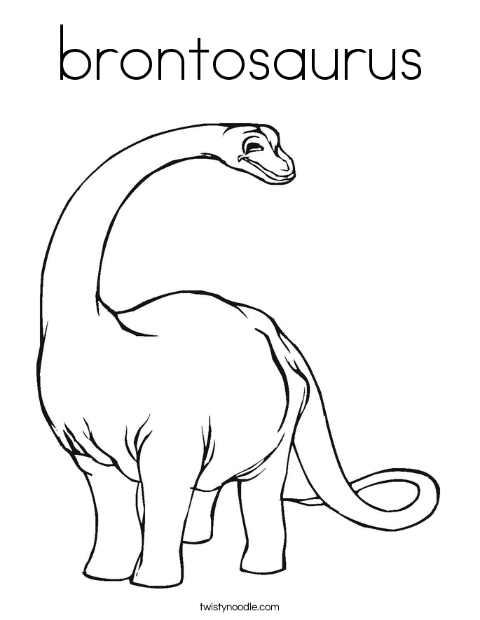 Baby Brontosaurus Coloring Page Coloring Pages