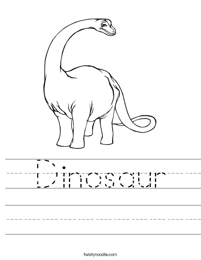 Dinosaur Worksheet Twisty Noodle