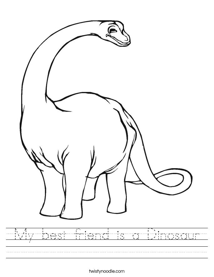 My best friend is a Dinosaur Worksheet