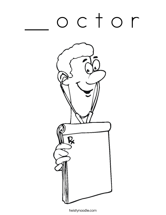__ o c t o r Coloring Page