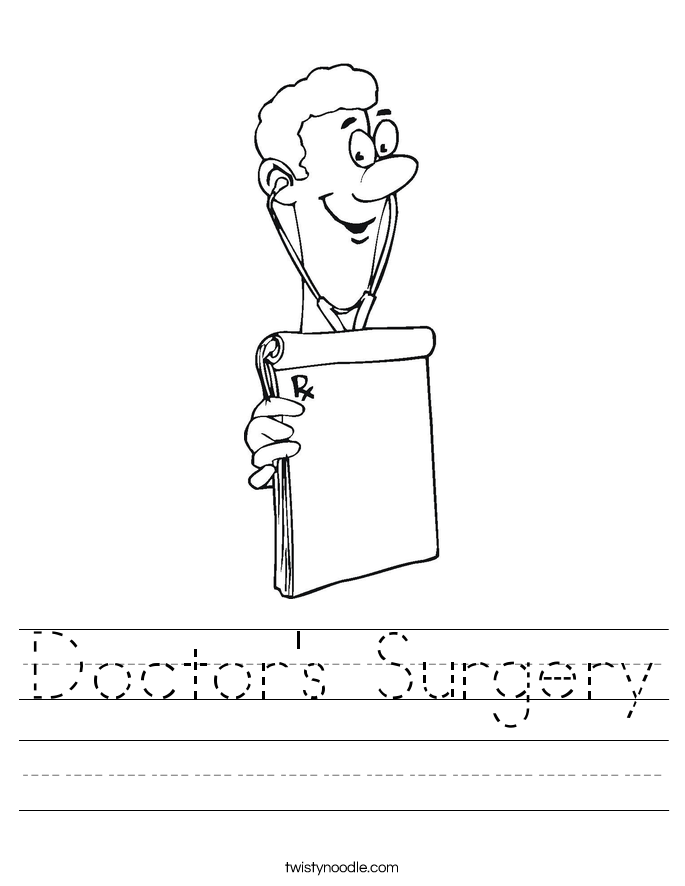 Doctor's Surgery Worksheet