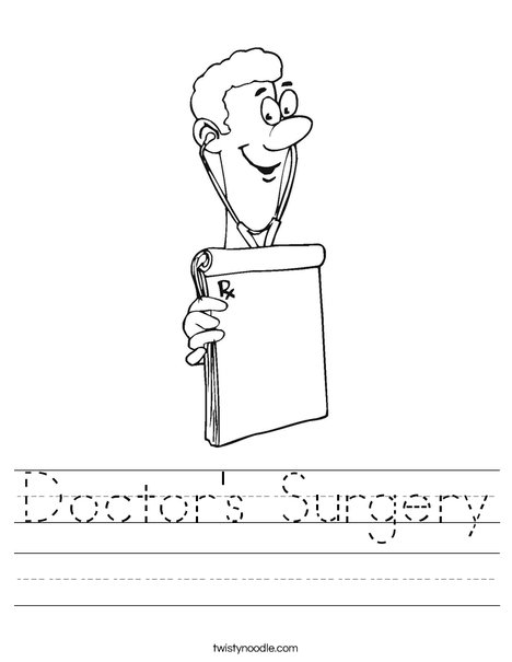 Doctor Worksheet