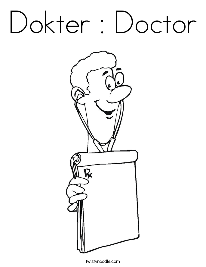 Dokter : Doctor Coloring Page