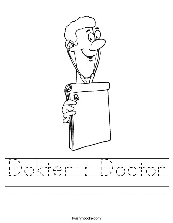 Dokter : Doctor Worksheet