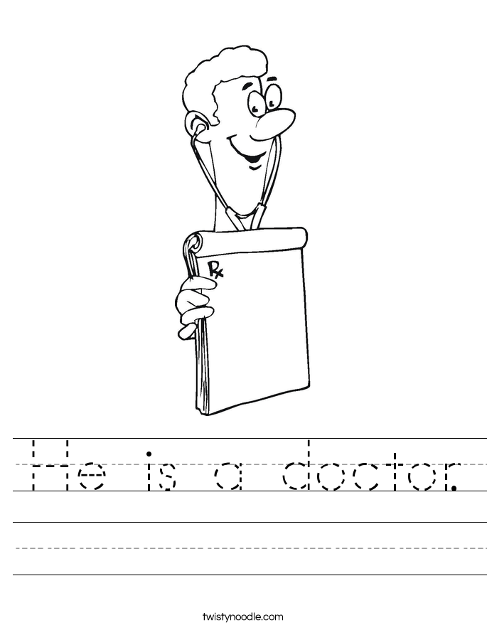 He is a doctor. Worksheet