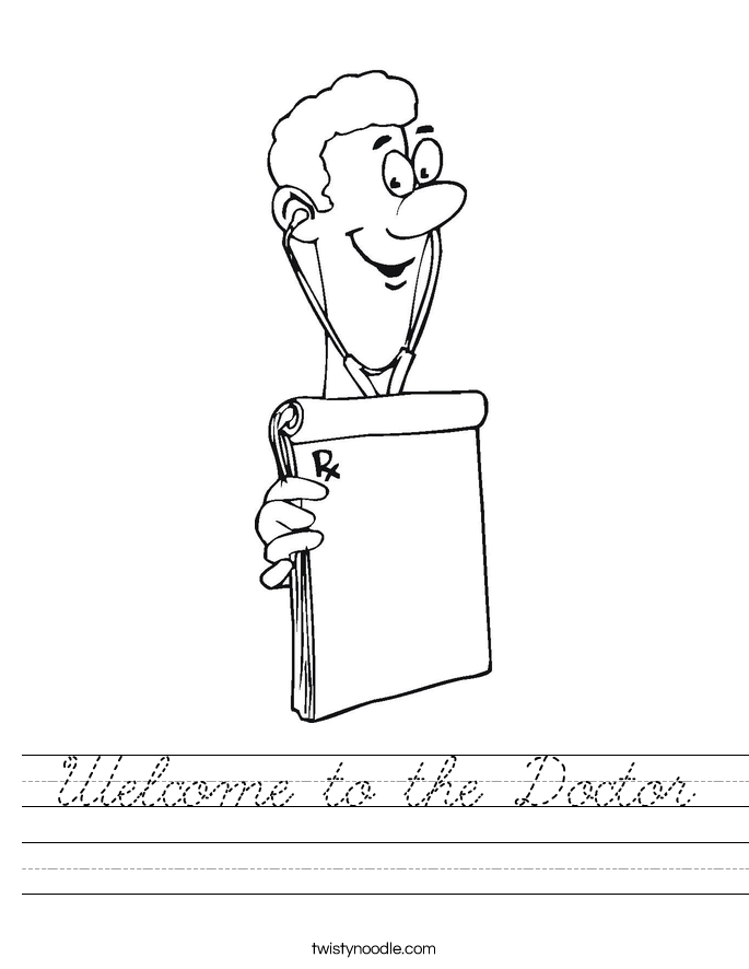 Welcome to the Doctor Worksheet