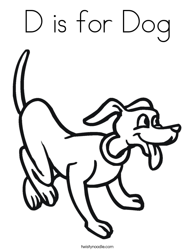 d for dog coloring pages - photo #11