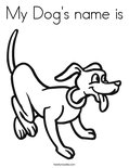 My Dog's name is Coloring Page