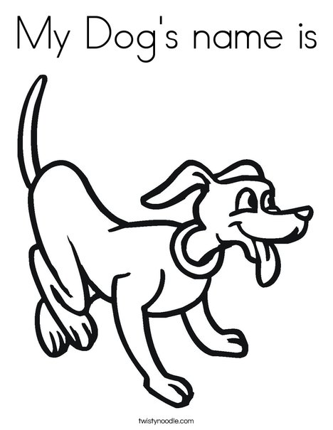 Playful dog coloring page